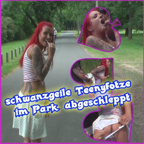 schwanzgeile Teenyfotze im Park abgeschleppt