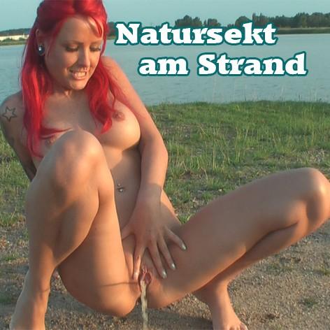Natursekt am Strand