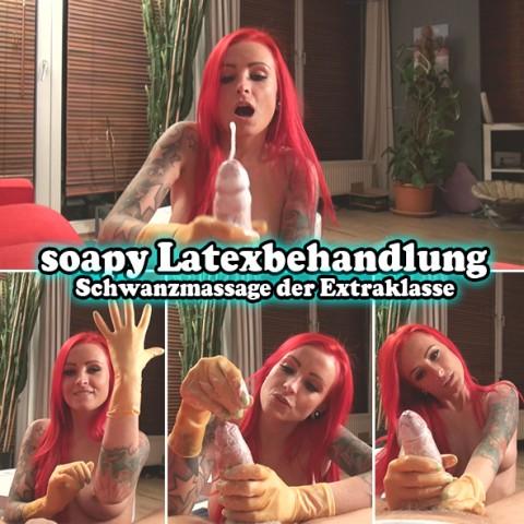 soapy Latexbehandlung - Schwanzmassage der Extraklasse